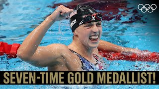 Katie Ledecky ?♀️  Always out to make history!