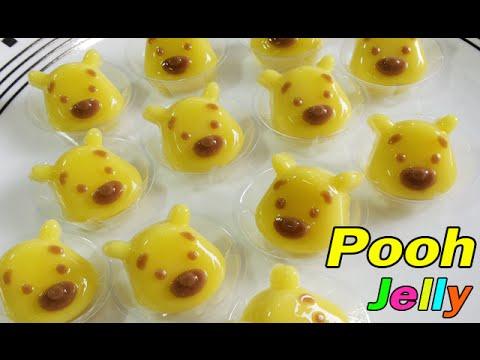 วิธีทำวุ้นแฟนซีรูปหมีพูห์ - How to make Pooh jelly
