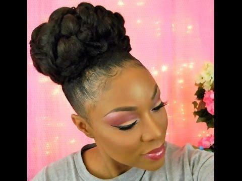 Bridal  Wedding  Goddess Updo  Hairstyle For Short Medium  Long Natural Hair  YouTube