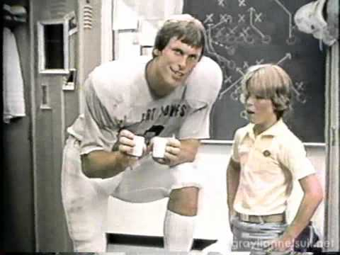 Ivory Soap TV commercial (1982) with Bert Jones