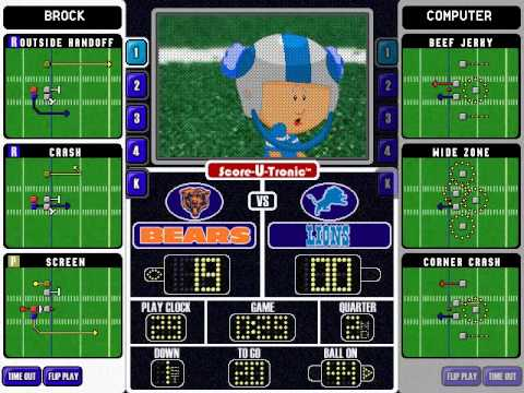 backyard football 2002 season playthrough week 1 chicago bears vs