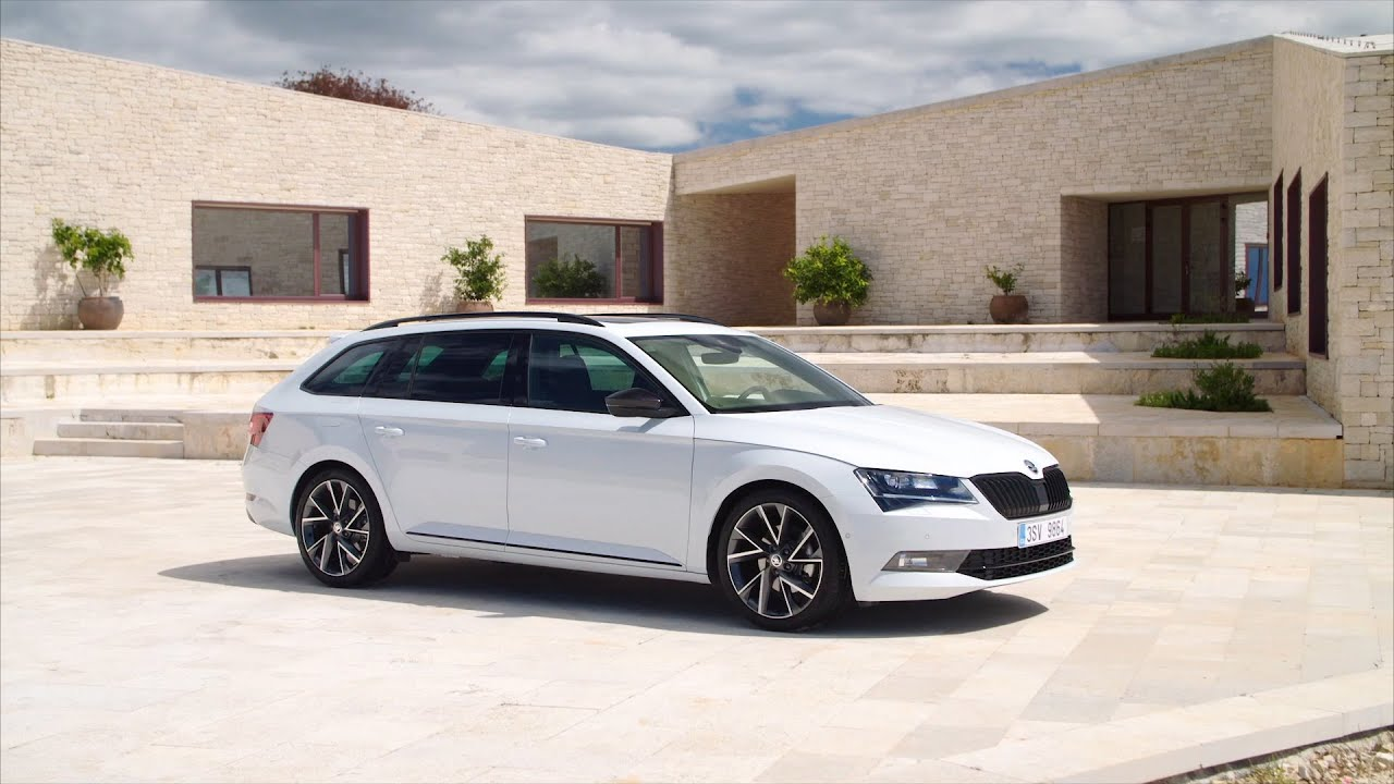 the new skoda superb combi sportline youtube. Black Bedroom Furniture Sets. Home Design Ideas
