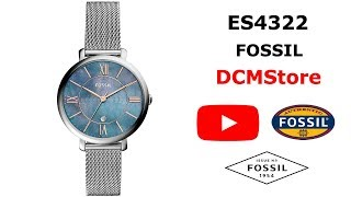 ES4322 Fossil Jacqueline Blue Dial Stainless Steel ...... DCMStore