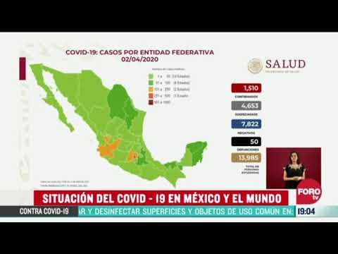 50 muertos y 1,510 contagios en Mexico por Coronavirus o covid 19