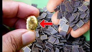 How to recycle gold from Ceramic Packages for CCD CMOS Cameras NG Scrap Gold from Electronics ewaste