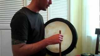 Three Basic Strokes on the Bodhrán - The Contemporary Bodhrán by Matthew Bell