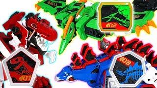Geo Mecha dinosaur transformers Captaindino Pterastorm, Tyrannotooth, Stegotank - DuDuPopTOY