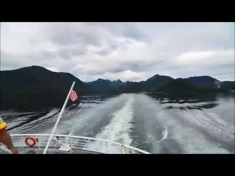 MV Columbia going through Peril Strait outbound from Sitka