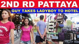 2ND RD PATTAYA BARS AND MASSAGE PARLORS NIGHT TIME WALK N TALK