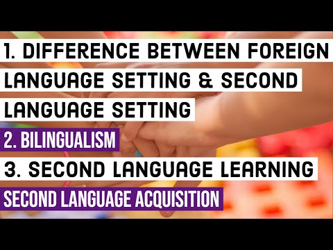 Difference Between Foreign Language And Second Language | Bilingualism | Second Language Acquisition