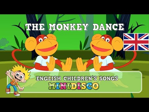 The Monkey Dance | CARTOON| children's songs | kids dance songs by Minidisco
