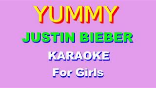 Yummy - justin bieber karaoke for girls