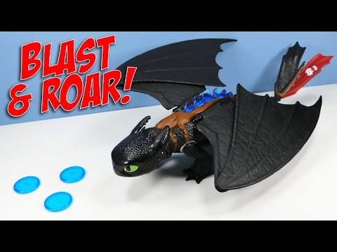 How To Train Your Dragon Blast Roar Glowing Disc Launcher Toothless Toy Review