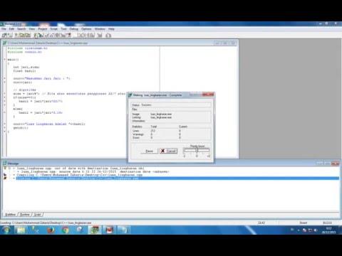 Cara Menghitung Luas Lingkaran Di C++