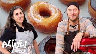 Brad And Claire Make Doughnuts Part 1  Itand39s Alive  Bon Appétit