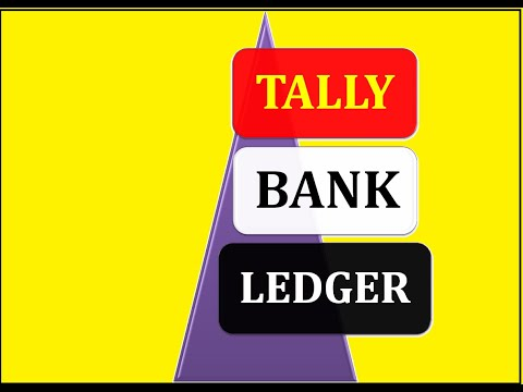 Taly How to create (Bank Ledger) in tally