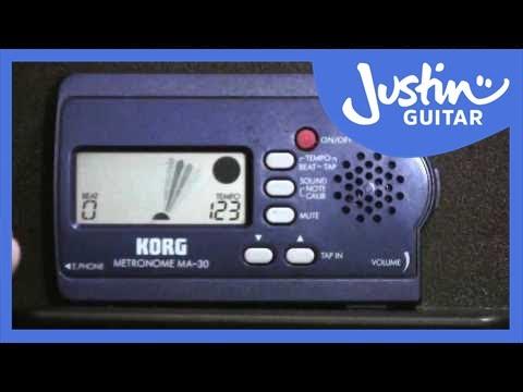 Introducing the Metronome | JustinGuitar com