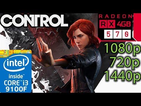 Control - RX 570 - 1080p - 1440p - 720p - I3 9100f - Gameplay Benchmark PC