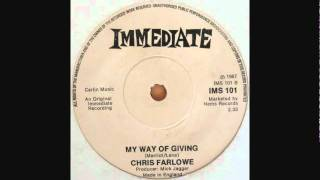 Chris Farlowe - My Way Of Giving (1967 Immediate Records)