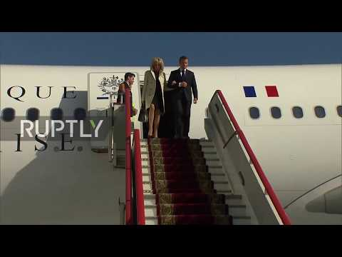 Russia: Macron arrives in St. Petersburg to take part in SPIEF
