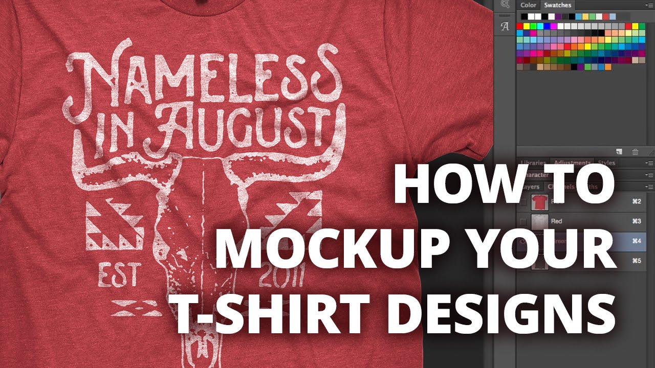 T-shirt design video tutorial
