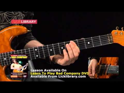 Bad Company Cant Get Enough Guitar Lesson - 'G Tuning' With Michael Casswell Licklibrary