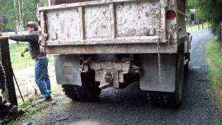 Start Up and more On My Dads 1966 Ford F600 5 yard Dump Truck