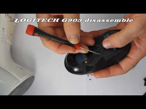 Logitech G903 Disassemble, Repair The Middle Click Wheel, Mausradklick Defekt
