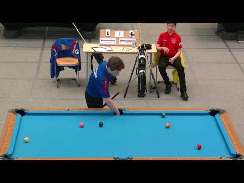 Dennis Laszkowski - Richard Nussberger Deutsche Jugend Meisterschaft 2017 m-U17 9-Ball