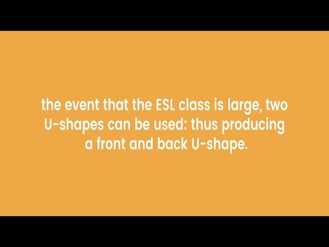 Classroom Layout for ESL Teachers