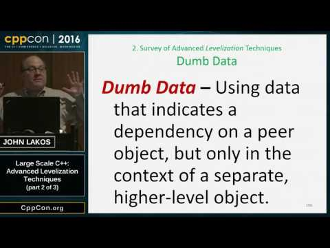 "CppCon 2016: John Lakos ""Advanced Levelization Techniques (part 2 of 3)"""