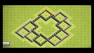 Clash of Clans Town Hall 6 Best Defense Base to reach 1250 trophies and Crystal League