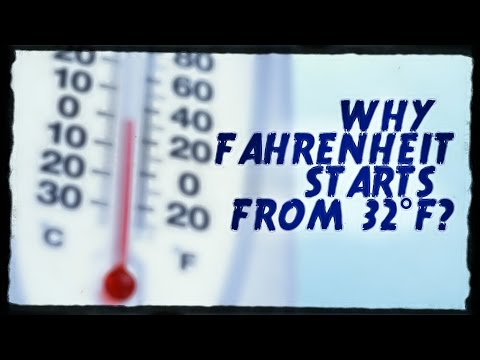 Why Fahrenheit starts from 32°F!!?