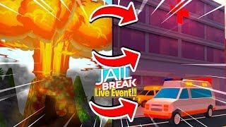 Roblox Jailbreak - *LIVE REACTION* 2B UPDATE, AMBULANCE & VOLCANO ERUPTION!!