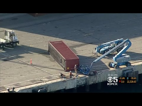 Crews Trying To Recover Empty Cargo Containers Dumped In Water At Port Of Oakland