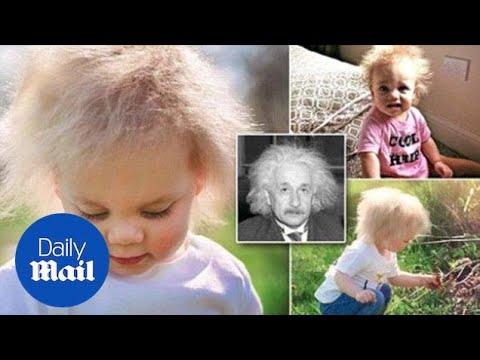 Девојче со коса како на Ајнштајн