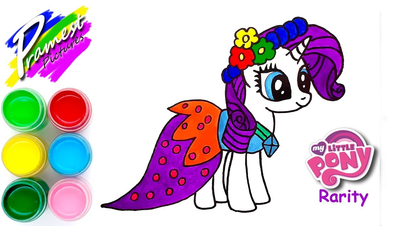Rarity Cara Menggambar Dan Mewarnai My Little Pony Youtube
