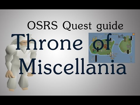 Osrs Throne Of Miscellania Quest Guide Youtube