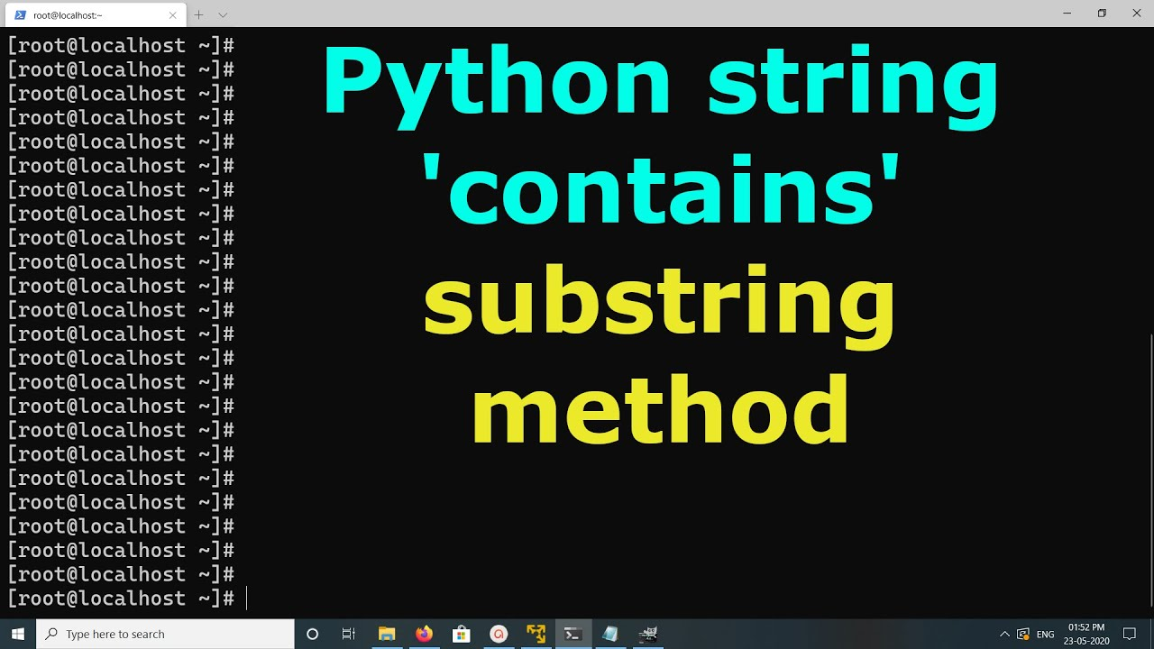 Does Python have a string 'contains' substring method