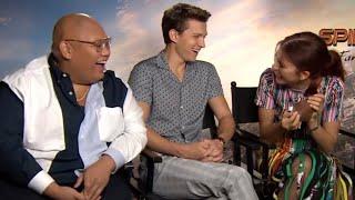 tom holland, zendaya & jacob batalon acting like children for 8 minutes and 51 seconds