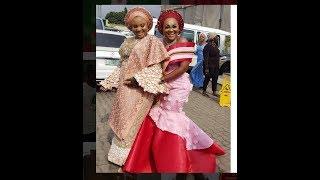See Mercy Aigbe outfit that got people talking as Bimbo Oshin,Lateef storm Abimbola & Okiki Wedding
