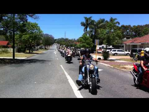 Perth Biker's Charity Ride Toy Run  2014 Goddard St Lathlain