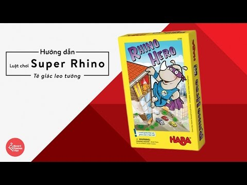 Board Games Việt - Hướng dẫn chơi board game Super Rhino | Tê Giác Leo Tầng