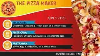PIZZA shop digital menu design