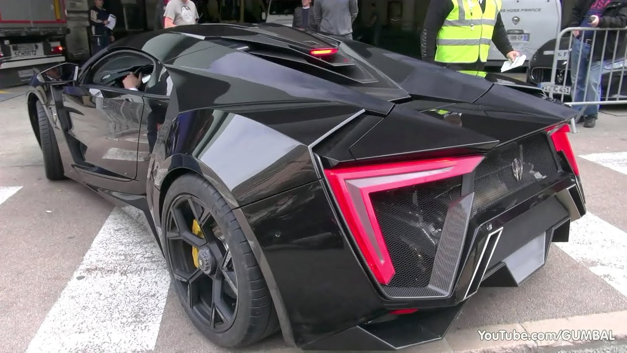 3 4 million lykan hypersport by w motors driving on the for K and w motors