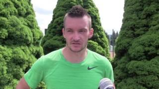 Michal Konečný po prohře v 1. kole na turnaji Futures v Ústí n. O.