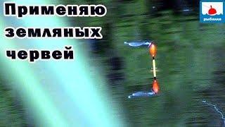 Рыбалка на карася на поплавок на озерце, применяю земляных червей