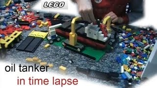 LEGO: BUILDING AN OIL TANKER IN TIME LAPSE HD