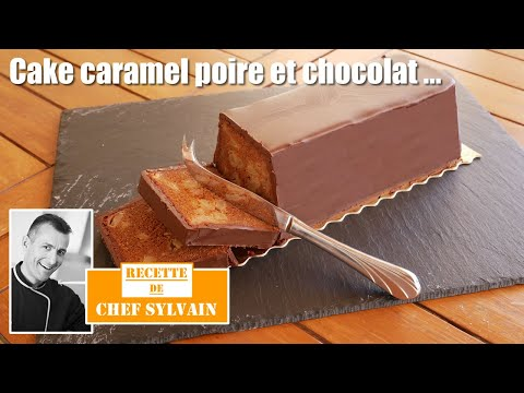 cake-caramel-poire-chocolat---recette-originale-par-chef-sylvain-!
