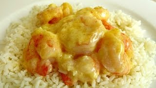 Garlic Cream King Prawns Recipe